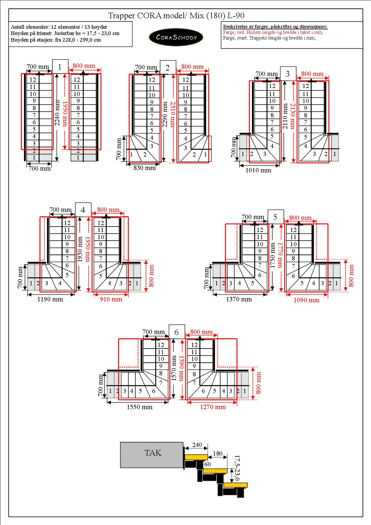 Metalltrappor Metalltrappor Model Mix 02 L 90 12 Element